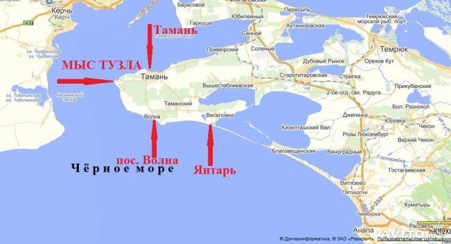 рыбалка в краснодарском крае в темрюкском районе карта